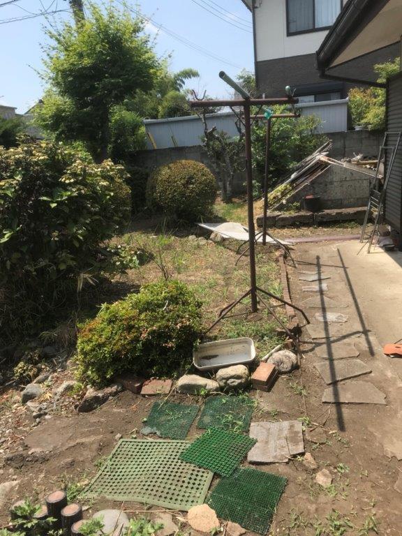 空き家の庭木伐採