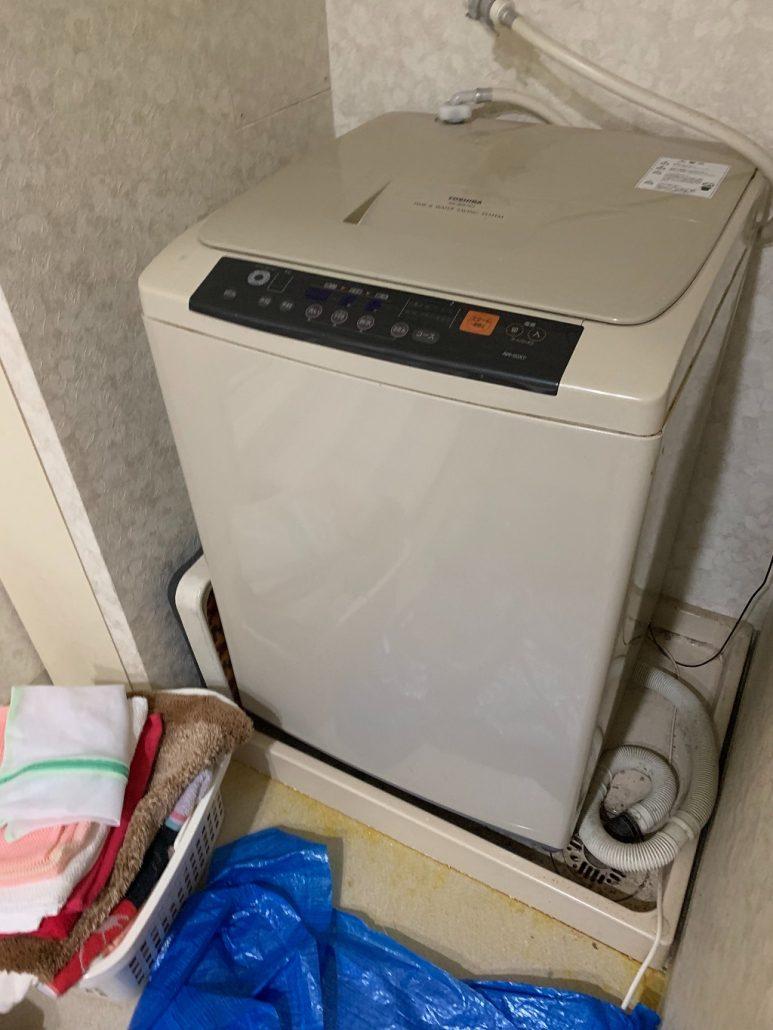 東芝製の洗濯機の回収