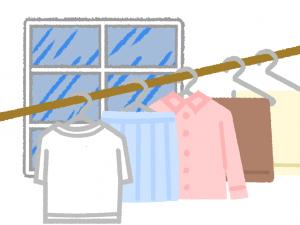 乾かない洗濯物